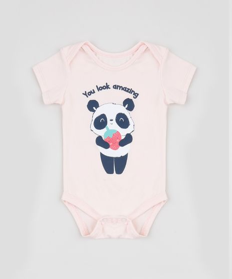 Body-Infantil-Panda--You-Look-Amazing--Manga-Curta-Rosa-Claro-9945870-Rosa_Claro_1