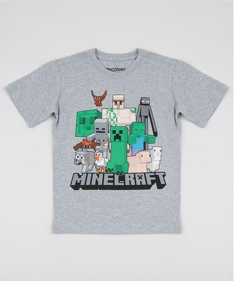 Camiseta-Infantil-Minecraft-Manga-Curta-Cinza-Mescla-9942948-Cinza_Mescla_1