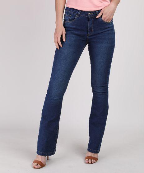 Calca-Jeans-Feminina-Flare-Cintura-Alta-Jeans-Escuro-9937688-Jeans_Escuro_1