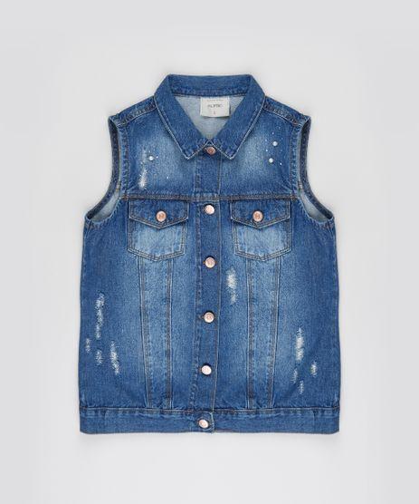 Colete-Jeans-Infantil-Destroyed-com-Bolsos-Azul-Medio-9944339-Azul_Medio_1