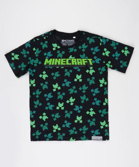 Camiseta-Infantil-Minecraft-Manga-Curta-Preta-9942961-Preto_1