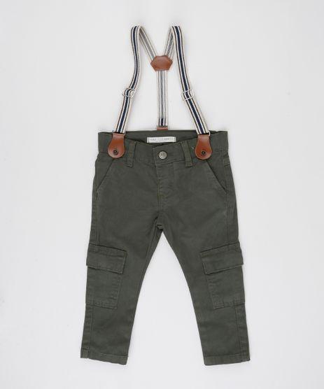 Calca-de-Sarja-Infantil-Cargo---Suspensorios-Verde-Escuro-9943146-Verde_Escuro_1