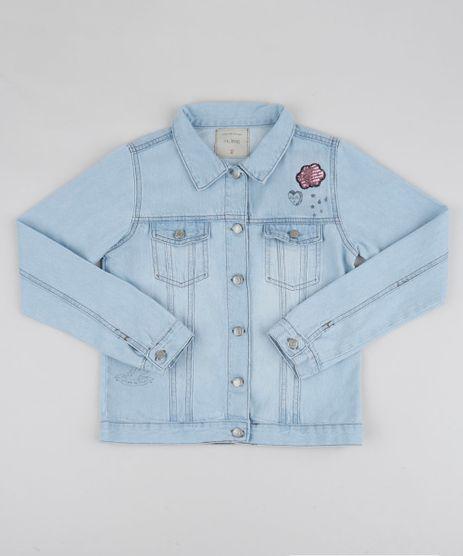 Jaqueta-Jeans-Infantil-com-Bordado-de-Paete-Azul-Claro-9944905-Azul_Claro_1