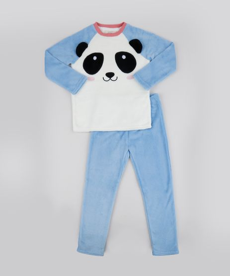 Pijama-de-Fleece-Infantil-Panda-Manga-Longa-Off-White-9769225-Off_White_1