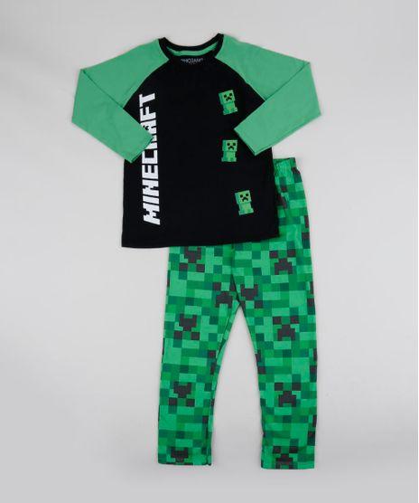 Pijama-Infantil-Minecraft-Manga-Longa-Preto-9942704-Preto_1
