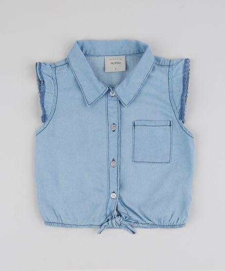 Camisa-Jeans-Infantil-com-Bolso-Sem-Manga-Azul-Medio-9944361-Azul_Medio_1