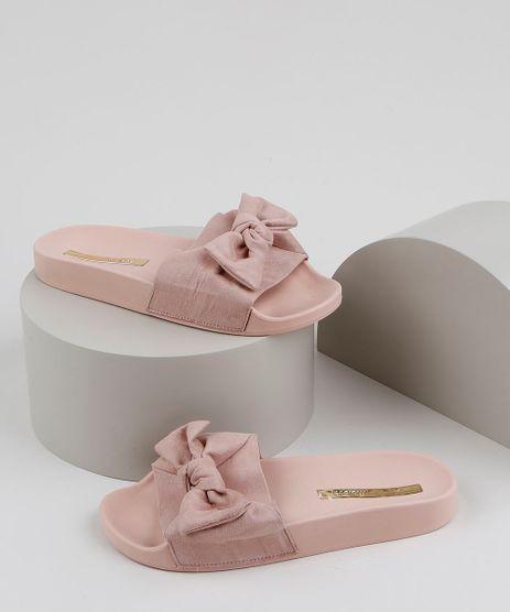 Chinelo-Slide-Feminino-Moleca-com-Laco-Rose-9952628-Rose_1