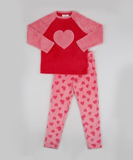 Pijama-de-Fleece-Infantil-Estampado-de-Coracoes-Manga-Longa-Rosa-9769045-Rosa_1