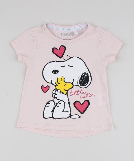 Blusa-Infantil-Snoopy-Manga-Curta-Rosa-Claro-9949028-Rosa_Claro_1