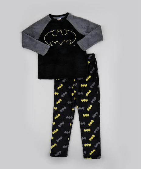 Pijama-de-Fleece-Infantil-Batman-Manga-Longa-Preto-9769046-Preto_1