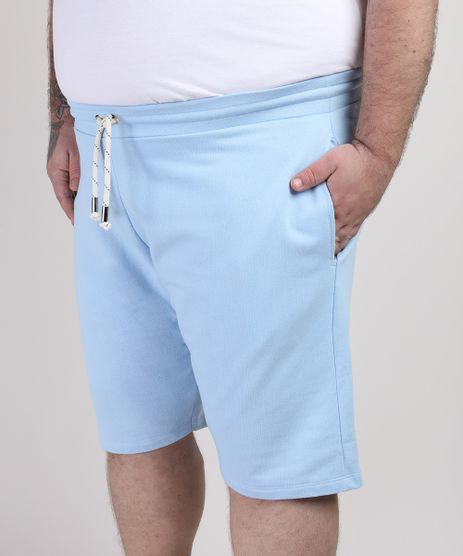 Bermuda-de-Moletom-Masculina-Reta-com-Bolso-Azul-Claro-9953442-Azul_Claro_1