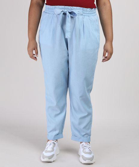 Calca-Feminina-Clochard-Plus-Size-com-Bolso-Azul-Claro-9952776-Azul_Claro_1