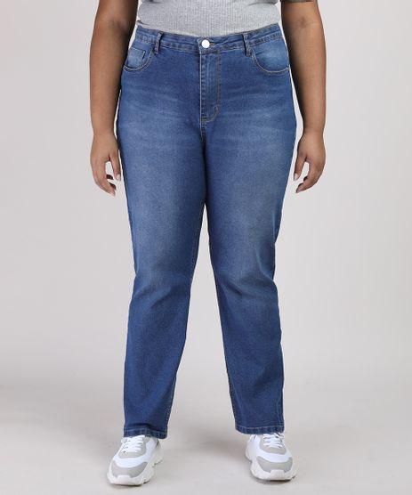Calca-Jeans-Feminina-Plus-Size-Reta-Cintura-Alta-Azul-Medio-9952946-Azul_Medio_1