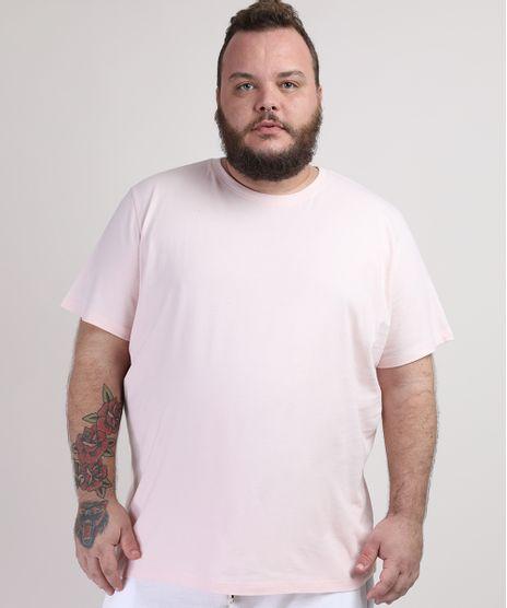 Camiseta-Masculina-Plus-Size-Manga-Curta-Gola-Careca-Rosa-Claro-9953518-Rosa_Claro_1