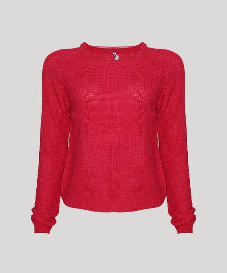 Sueter-Feminino-Basico-em-Trico-Decote-Redondo-Pink-9798092-Pink_1