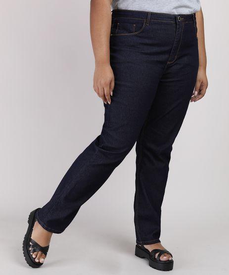 Calca-Jeans-Feminina-Plus-Size-Reta-Cintura-Alta-Azul-Escuro-9952945-Azul_Escuro_1