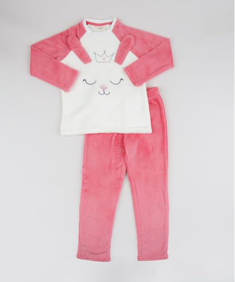 Pijama-de-Fleece-Infantil-Coelhinha-Manga-Longa-Rosa-9769042-Rosa_1