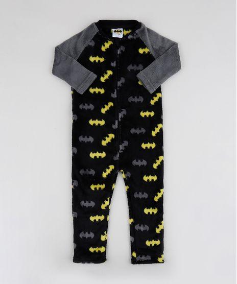 Pijama-Macacao-de-Fleece-Infantil-Batman-Manga-Longa-Preto-9769039-Preto_1