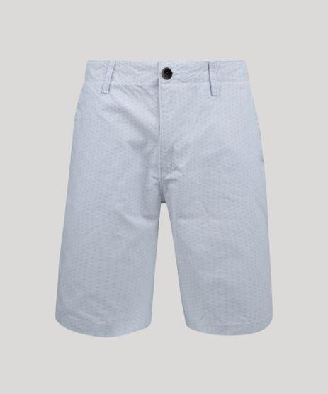 Bermuda-de-Sarja-Masculina-Reta-Estampada-de-Folhagem-com-Bolsos-Off-White-9948036-Off_White_1