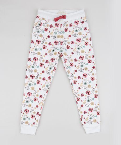 Calca-de-Moletom-Infantil-Estampada-Floral-com-Bolsos-Off-White-9797508-Off_White_1