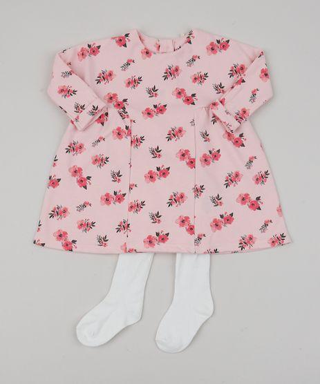 Vestido-Infantil-Estampado-Floral-Manga-Longa---Meia-Calca-Rosa-Claro-9851525-Rosa_Claro_1
