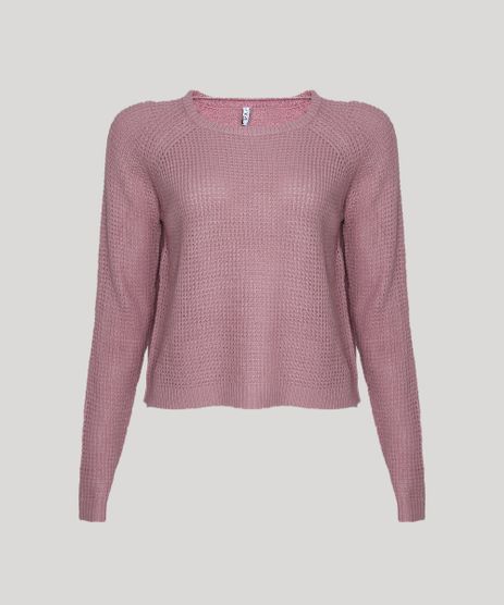 Sueter-Feminino-em-Trico-Decote-Redondo-Rosa-Escuro-9798092-Rosa_Escuro_1