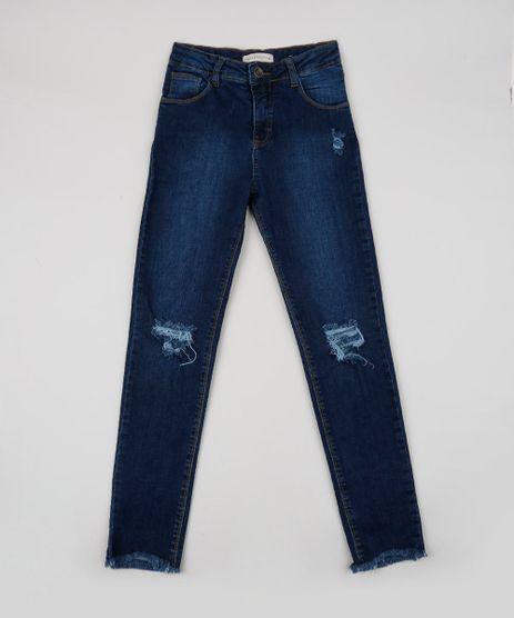 Calca-Jeans-Juvenil-Destroyed-com-Bolsos-Azul-Escuro-9946614-Azul_Escuro_1