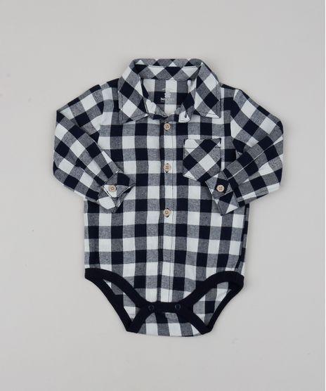 Body-Camisa-de-Flanela-Infantil-Estampado-Xadrez-Manga-Longa-Preto-9842883-Preto_1