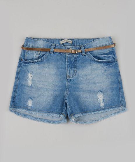 Short-Jeans-Infantil-com-Bolso-e-Cinto-Azul-Claro-9944360-Azul_Claro_1
