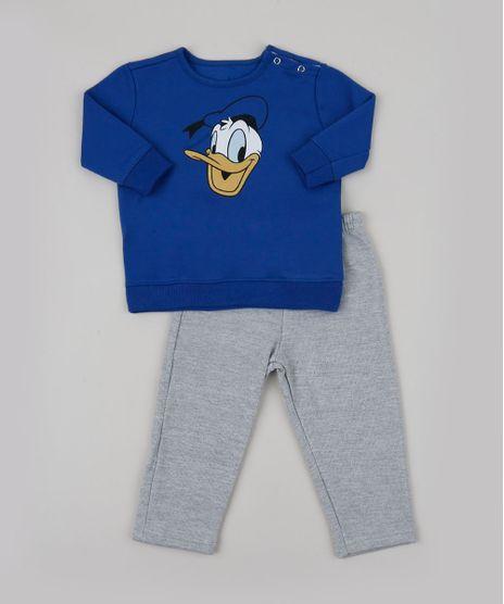Conjunto-Infantil-em-Moletom-Pato-Donald-de-Blusao-Azul-Royal---Calca-Cinza-Mescla-9951752-Cinza_Mescla_1