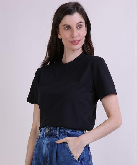 T-Shirt-Feminina-Mindset-Manga-Curta-Decote-Redondo-Preta-9394894-Preto_1