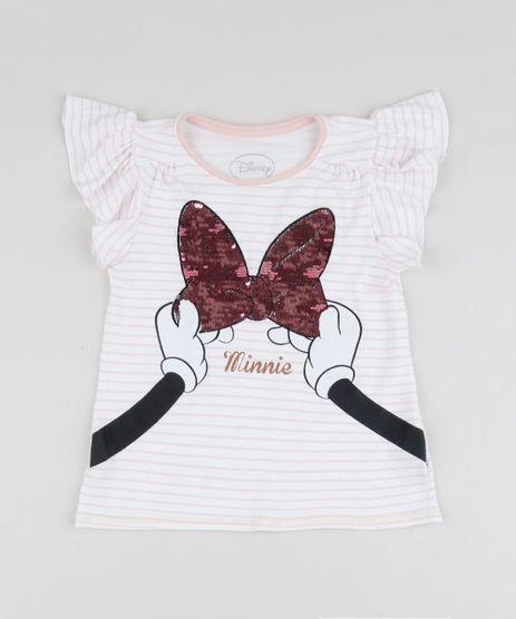 Blusa-Infantil-Minnie-Listrada-com-Paetes-Dupla-Face-Manga-Curta-Off-White-9944978-Off_White_1