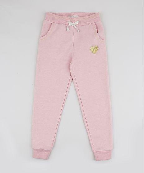 Calca-de-Fleece-Infantil-com-Bordado-Rosa-Claro-9798198-Rosa_Claro_1