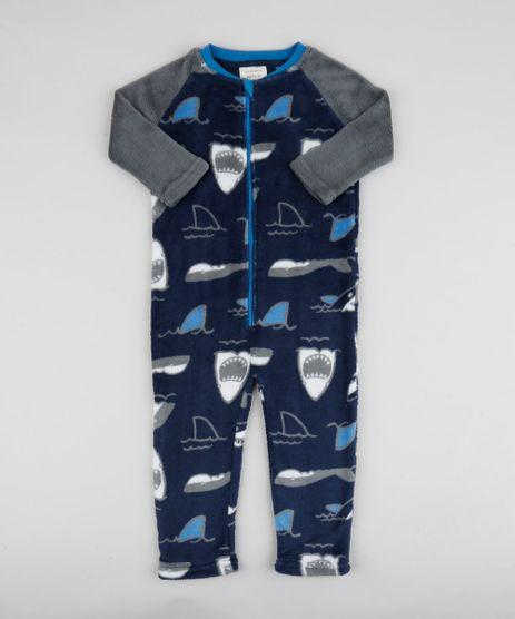 Pijama-Macacao-Infantil-em-Fleece-Tubaroes-Azul-Marinho-9769043-Azul_Marinho_1
