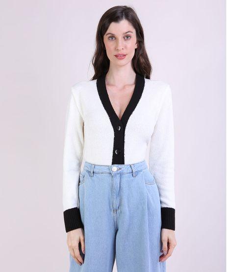 Cardigan-de-Trico-Feminino-Mindset-Cropped-Bicolor-Decote-V-Off-White-9953731-Off_White_1