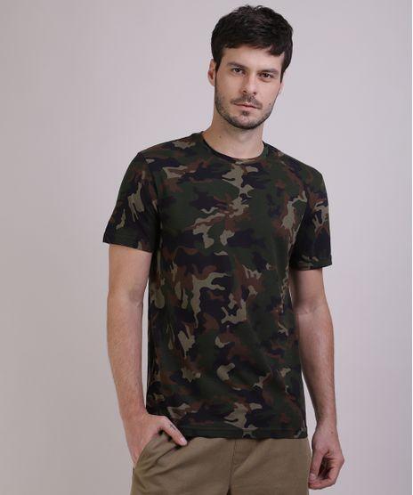 Camiseta-Masculina-Estampada-Camuflada-Manga-Curta-Gola-Careca-Verde-Militar-9942733-Verde_Militar_1