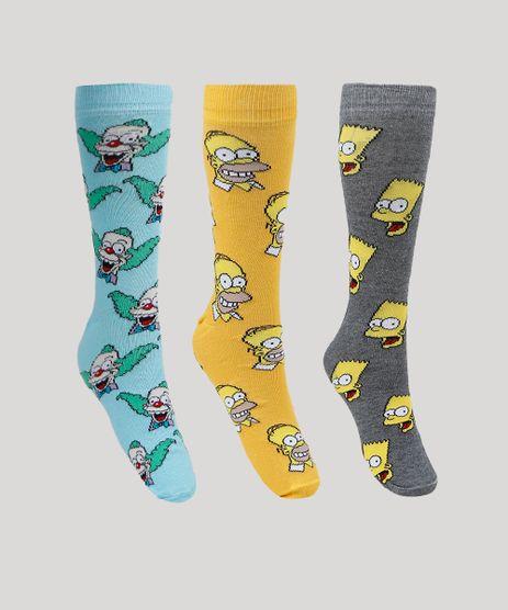 Kit-de-3-Meias-Masculinas-Cano-Alto-Os-Simpsons-Multicor-9951406-Multicor_1