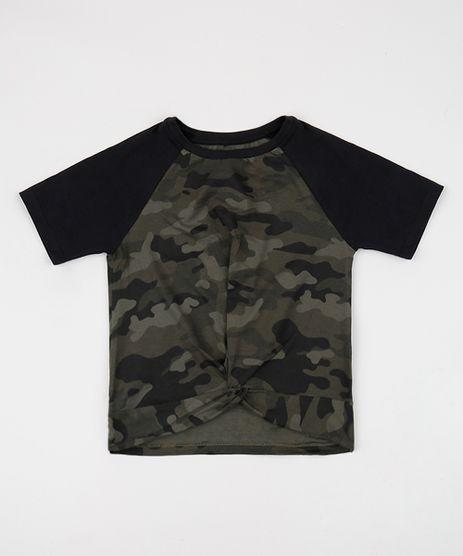 Blusa-Juvenil-Estampada-Camuflada-com-No-Manga-Curta-Verde-Militar-9946318-Verde_Militar_1