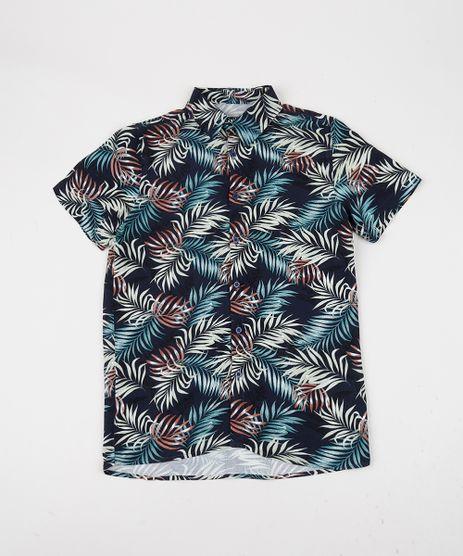 Camisa-Juvenil-Estampada-de-Folhagens-Manga-Curta-Azul-Marinho-9944099-Azul_Marinho_1