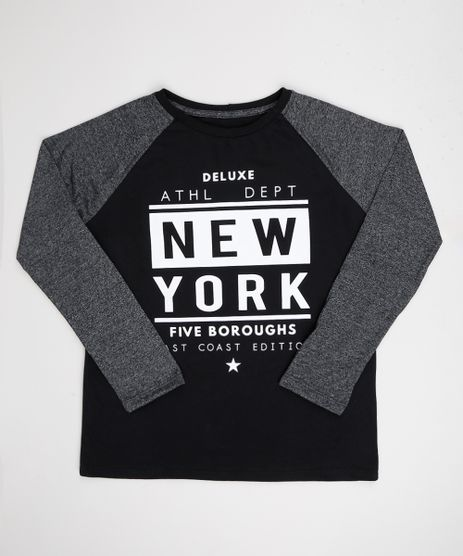 Camiseta-Juvenil--New-York--Manga-Longa-Raglan-Preta-9943206-Preto_1