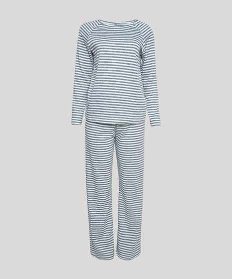 Pijama-Feminino-Listrado-Manga-Longa-Cinza-Mescla-Escuro-9953278-Cinza_Mescla_Escuro_1