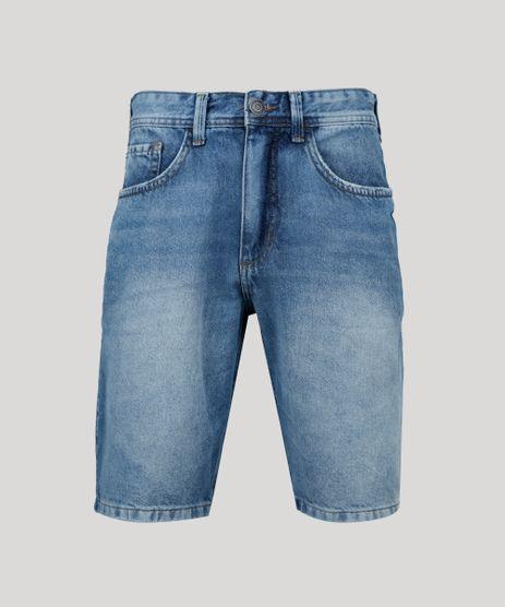 Bermuda-Jeans-Masculina-Slim-com-Bolsos--Azul-Medio-9953162-Azul_Medio_1