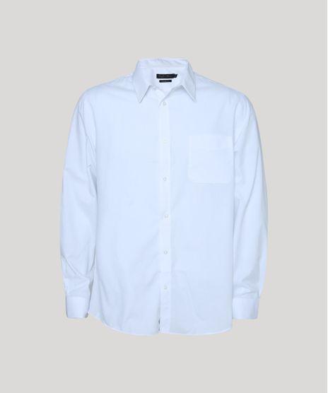 Camisa-Social-Masculina-Comfort-Fit-com-Bolso-Manga-Longa-Branco-7591834-Branco_1