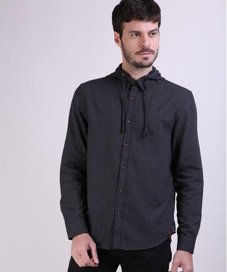 Camisa-de-Flanela-Masculina-Comfort-com-Capuz-Removivel-Manga-Longa-Cinza-Mescla-Escuro-9809552-Cinza_Mescla_Escuro_1