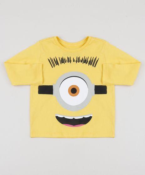 Camiseta-Infantil-Minions-Manga-Longa-Amarela-9944568-Amarelo_1
