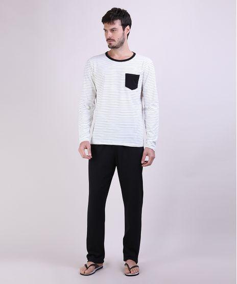 Pijama-Masculino-Camiseta-Estampada-Listrada-Manga-Longa-Gola-Careca-Off-White-9953843-Off_White_1