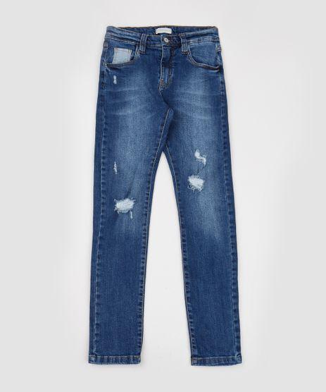Calca-Jeans-Juvenil-Slim-Destroyed-com-Bolsos-Azul-Medio-9944394-Azul_Medio_1