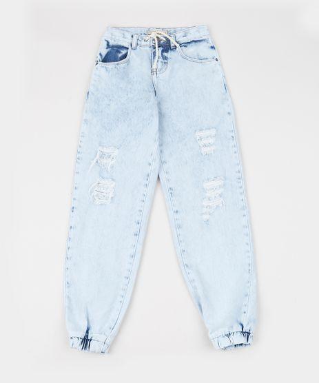Calca-Jeans-Infantil-Jogger-com-Bolsos-Azul-Claro-9944351-Azul_Claro_1
