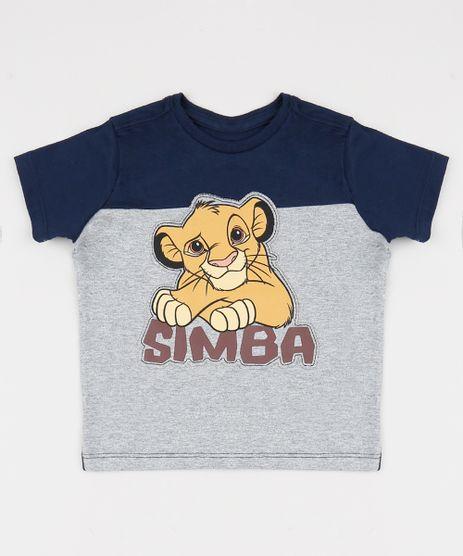 Camiseta-Infantil-Simba-O-Rei-Leao-com-Recortes-Manga-Curta-Azul-Marinho-9942410-Azul_Marinho_1