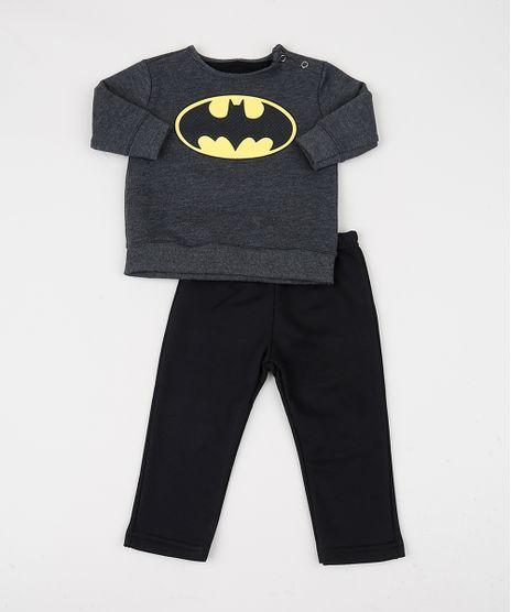 Conjunto-Infantil-de-Blusao-Batman---Calca-em-Moletom-Cinza-Mescla-Escuro-9948038-Cinza_Mescla_Escuro_1